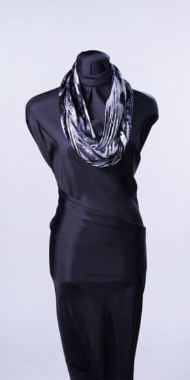 Black White Flow Infinity Scarf