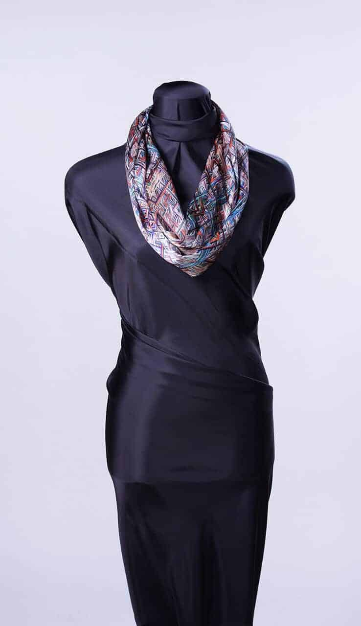 Geometric Diamonds Infinity Scarf