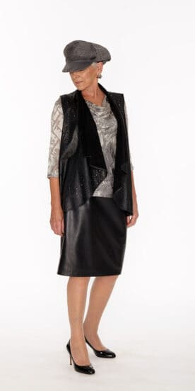 Draped Leather Vest