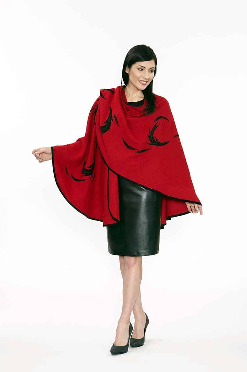 Red Flinging Cape