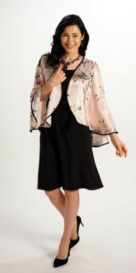 Silk Capelet in Apple Blossom