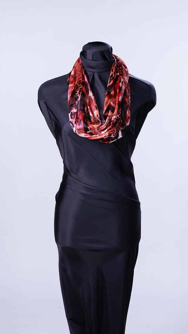 Hot Reds Silk Infinity Scarf