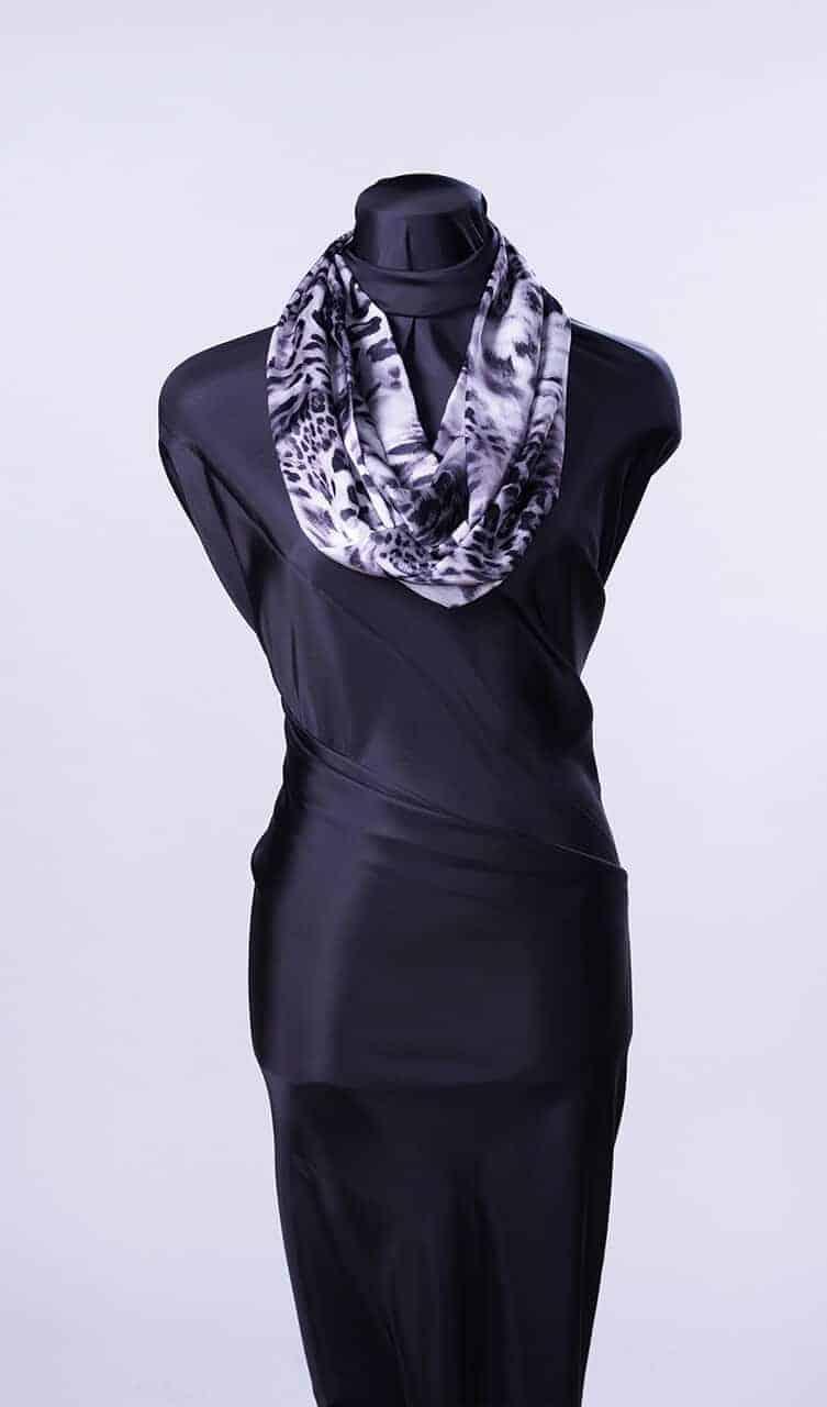 Leopard Blur Silk Infinity Scarf