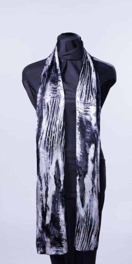 Black & White Flow Rectangle Scarf