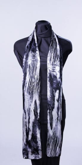 Black & White Flow Rectangle Scarf
