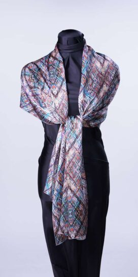 Geometric Diamonds Rectangle Scarf