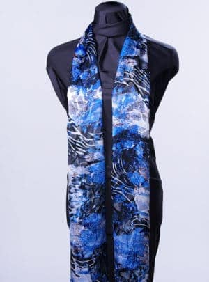 Mediterranean Blue Rectangle Scarf