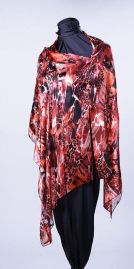 Hot Reds Scarf Rectangle Top
