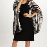 Black And White Flow Square Silk Scarf