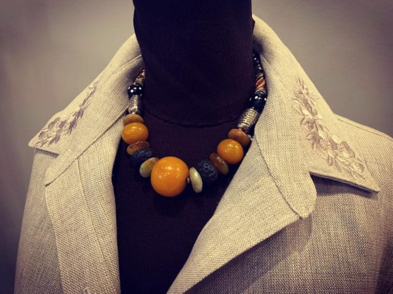 Linen and African Beads