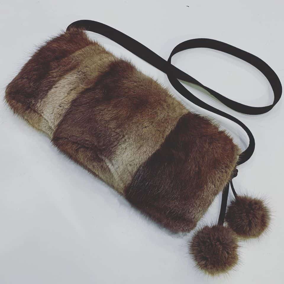 upcycled fur muff streve design -