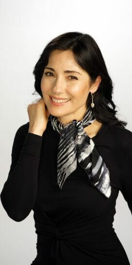 Black and White Flow Small Square Scarf Bandana