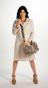 Half Moon Bag with Swirl Quilt Design