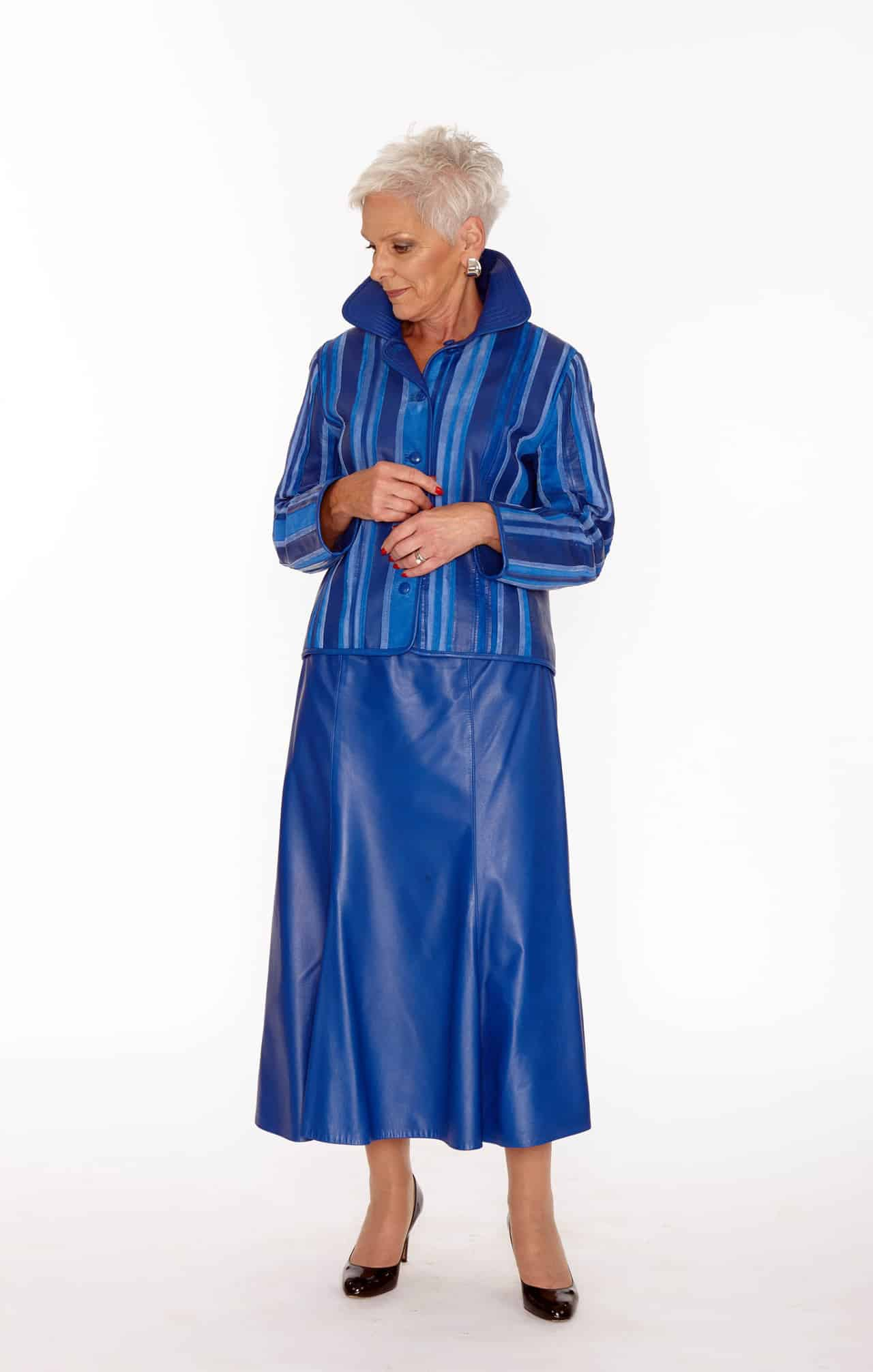 Blue Suede Semi-Fit Jacket