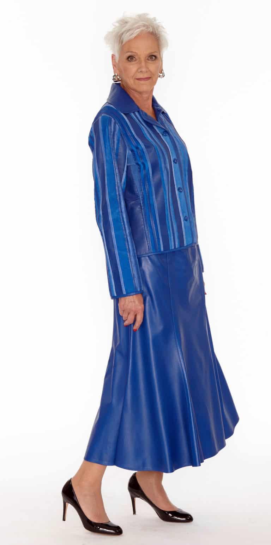 Long Genuine Lamb Leather Trumpet Skirt