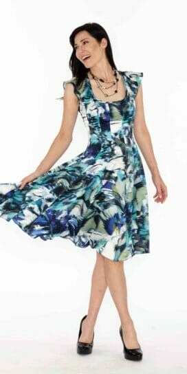 Flirty Fit and Flare Silk Dress