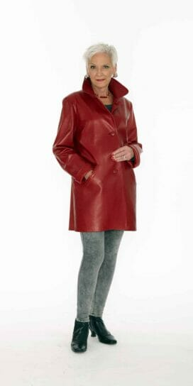 Genuine Italian Red Lamb Leather Jacket