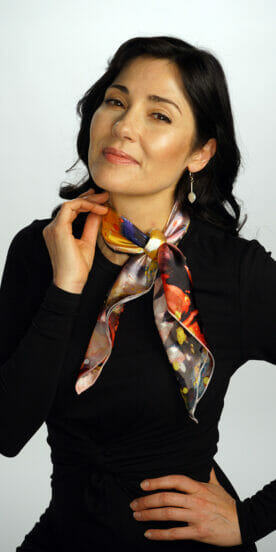 Star Burst Small Square Scarf Bandanna