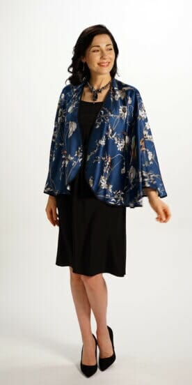Silk Capelet in Blue Bird
