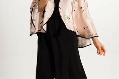 Silk Capelet in Apple Blossom