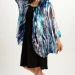 Silk Draped Top in Water Flow