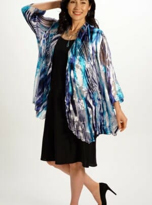 Silk Draped Top in Water Flow