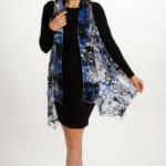 Silk Scarf Vest in Mediterranean Blue