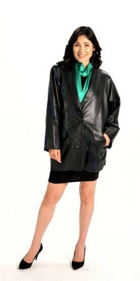 Easy Fit Car Coat in Genuine Italian Lamb Leather