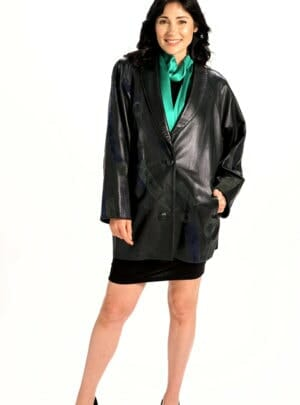 Easy Fit Car Coat in Genuine Italian Lamb Leather