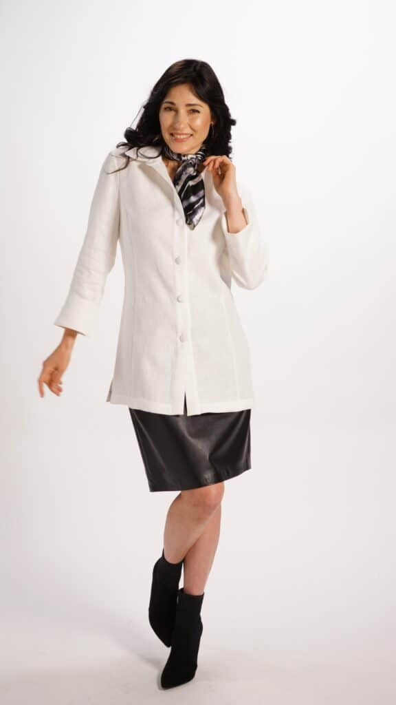 Tailored White Linen Shirt