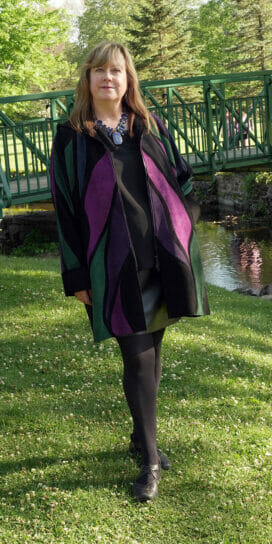 Stained Glass Suede Car Coat